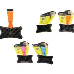 Suministros para mascotas Cepillo de aseo para perros / gatos 13 cm x 7 cm Cepillo para desenredar pieles de animales 6037
