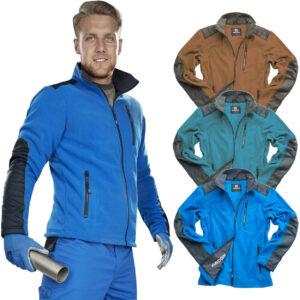 Chaqueta de lana para hombre nueva ropa de trabajo bolsillo con cremallera completa al aire libre polar cálido anti Pil