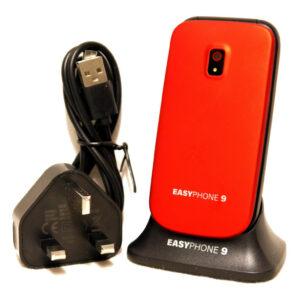 Easy Phone 9 Red (Desbloqueado) Teléfono móvil con botón grande - Nuevo