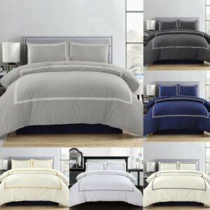 Juego de cama de lujo con funda nórdica y fundas de almohada, individual, doble, tamaño king