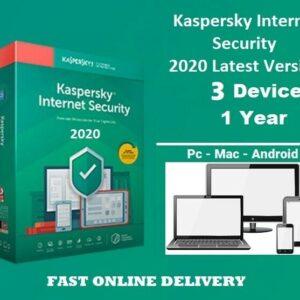 Kaspersky Internet Security 2020 para 3 PC / dispositivos 1 año de clave de descarga UE