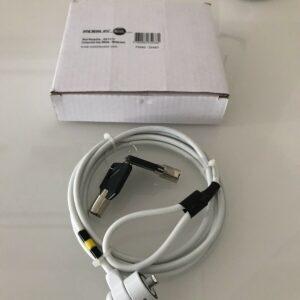 Llave de bloqueo de seguridad corporativa Mobilis blanca para PC / portátil / portátil