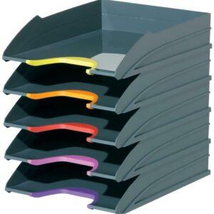 Productos de oficina duraderos - 770557 - Juego de bandejas para cartas varicolor - 5 bandejas