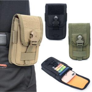 Tactical Molle Waist Pack Utility Bolsa para teléfono celular Portatarjetas de identificación Estuche para cinturón