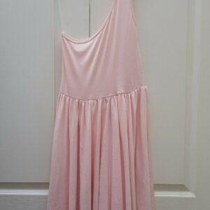 Vestido rosa pastel de un hombro American Apparel Talla única 10 12 14 Algodón orgánico