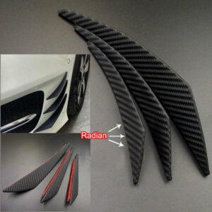 20/16/13 cm coche fibra de carbono parachoques delantero aletas Spoiler Canards accesorios de reajuste