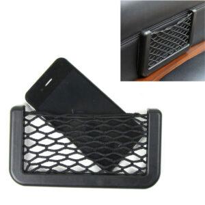 Accesorios para el soporte del teléfono de almacenamiento de red elástica negra del borde interior del cuerpo del coche