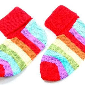 Calcetines de rayas de colores para bebés, de punto grueso, acogedor, regalo perfecto, moda infantil (MS8)