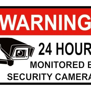 Calcomanías de CCTV de advertencia para su hogar, tienda, negocios, Factroy, cámara, seguridad, 5 piezas