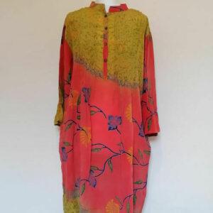 Conscious Apparel / Vestido City de seda sari vintage Cofur