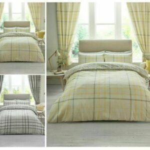 Hartley Check Modern Edredón edredón y funda de almohada Juego de cama Doble tamaño King