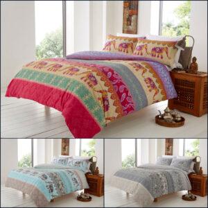 Juego de funda nórdica con diseño de elefante, tamaño king, ropa de cama individual doble, reversible, nuevo