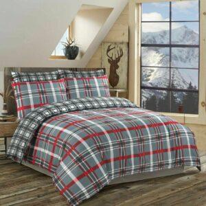 Juego de ropa de cama con funda nórdica y edredón con estampado reversible, tamaño king doble con funda de almohada