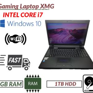 Laptop para juegos rápida XMG Intel i7-4710 8GB RAM 1TB HDD GEFORCE GTX 870M Webcam DVD