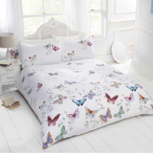 Mariposas Funda nórdica Ropa de cama Juego de cama Ropa de cama Funda de edredón blanca para niñas Nuevo