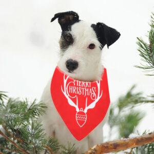 Navidad Triangular Pet Supplies Dog Bandana Collar Dog Babero Bufanda para perro