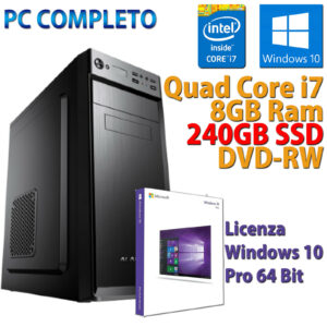PC ORDENADOR DE ESCRITORIO INTEL CORE i7-3770 RAM 8GB SSD 240GB DVD-RW WINDOWS 10 PRO