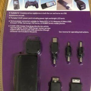 """Paquete de baterías portátil """"AUTO CARE"""" para cargar varios electrodomésticos en el automóvil y el hogar"""