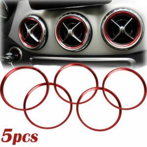 Para el anillo de decoración de ventilación de Mercedes Para accesorios de coche de salida de ajuste de ventilación de aire Benz