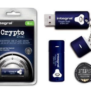 Unidad flash USB cifrada segura de 8 GB con seguridad militar de 256 bits para PC y Mac