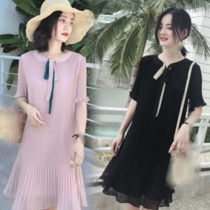 último verano coreano tendencia de la moda temperamento hermoso vestido suelto de gasa