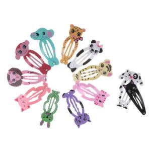 6X Fashion Girl Animal Hairpin headwear pasadores para niños Pinzas para el cabello Snap Clip .kn