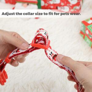Balacoo Santa Bell Collar para mascotas Collar de nailon para mascotas Suministros para mascotas de Navidad para perros