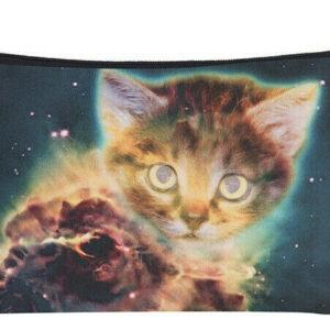 Estuche para maquillaje Galaxy Ginger Cat Estuche para lápices Estuche para lavado Productos de belleza