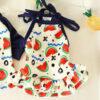 Falda para mascotas de sandía ondulada, ropa fina de verano para mascotas, vestido para perros, suministros para mascotas, talla XS