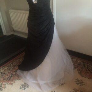 Jump Apparel Vestido de princesa blanco y negro Talla US 9/10