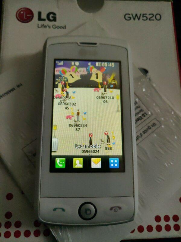 LG GW520 azerty & Touch Mobile Teléfono desbloqueado en caja
