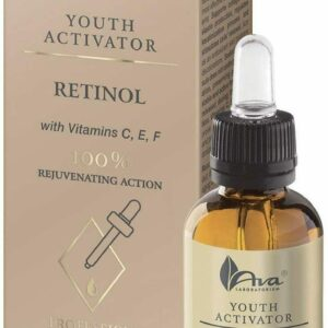 La mejor crema de suero facial con vitamina C + retinol.  Antiedad + Ácido Hialurónico.