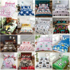 Niños Ropa de cama para niños Juego de funda de edredón nórdico doble individual Niños Niñas 50+ diseños
