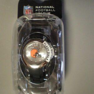 Reloj para niños Game Time NFL Cleveland Browns Flash Series Blanco Nuevo en estuche