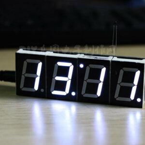1 Uds blanco digital LED microcontrolador electrónico reloj pantalla tiempo de visualización nuevo