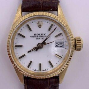 1966 Reloj Rolex Date 6517 de oro de 18 quilates para mujer con recibo original de papeles
