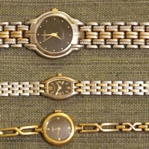 2 relojes SEIKO para mujer y 1 reloj para mujer PULSAR.  Necesita pilas.