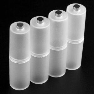 4pcs AAA a AA Adaptador de oficina Conveniente convertidor de batería Caja de accesorios para el hogar