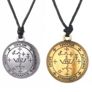 Arcángel Miguel Amuleto Collar Protección San Colgante Oro Rosa Plata
