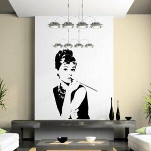 Audrey Hepburn Calcomanía de vinilo grande para pared, decoración artística, 30 cm x 50 cm, Reino Unido rápido