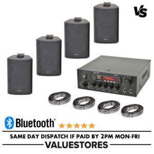 Bar Restaurante Pub Amplificador inalámbrico Sistema de sonido con Bluetooth y 4 altavoces