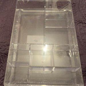 Cajón de almacenamiento de plástico transparente para maquillaje Primark - Úselo para separar productos de belleza