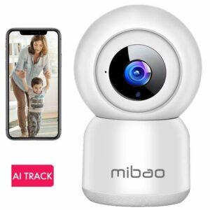 Cámara 1080P FHD WiFi, Cámara IP Mibao, Cámara de seguridad interior, Monitor de bebé,