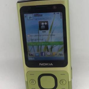 Desbloqueado Nokia 6700s 6700 Slide Botón deslizante verde lima Cámara Teléfono celular móvil