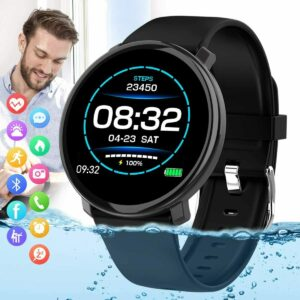 El Smart Watch de la pantalla táctil Android / iOS llama por teléfono la presión arterial del ritmo cardíaco de Bluetooth