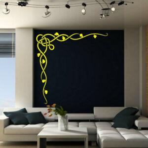 Etiqueta de la decoración de la etiqueta de la pared del arte elegante de la esquina de la vid celta 50 cm x 50 cm Reino Unido RÁPIDO