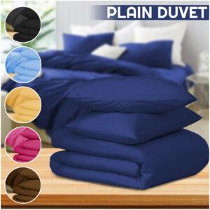 Funda nórdica de tela cepillada 100% con funda de almohada Juego de cama Individual Doble y King