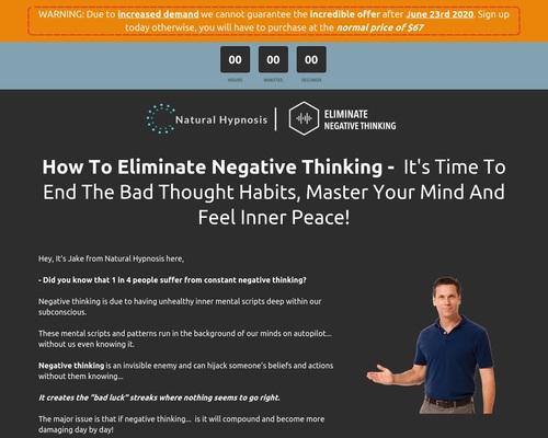 Hipnosis natural    Elimina el pensamiento negativo