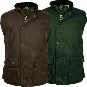 Hombres Adultos Cera Body Warmer Gilet Chaleco Country Wear Chaqueta de caza
