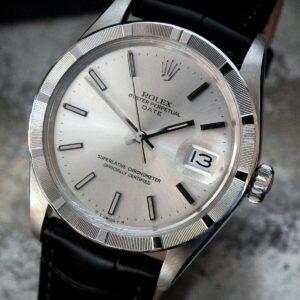 Impresionante 1970 Rolex Oyster Perpetual Date 'Sigma' Dial Reloj vintage para hombre